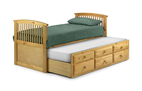 Hornblower Antique Pine Finish Cabin Bed-Cabin Beds-Julian Bowen-GoFurn Furniture Store Kent