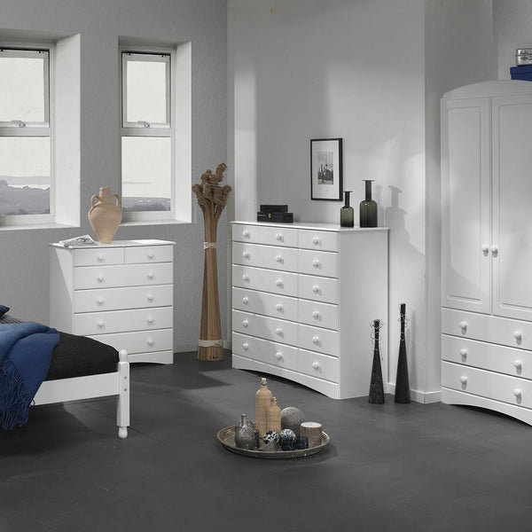 Horten White 3 Door Mirrored Wardrobe-white mirrored 3 door wardrobes-GoFurn-GoFurn Furniture Store Kent