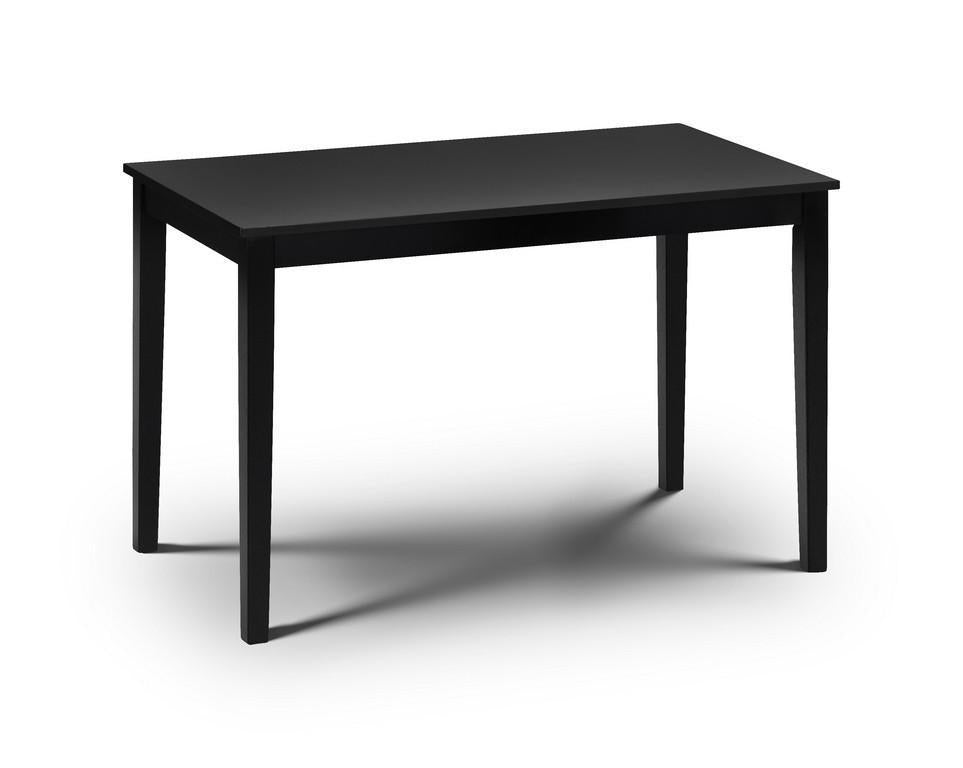 Hudson Black Dining Table-black dining tables-Julian Bowen-GoFurn Furniture Store Kent