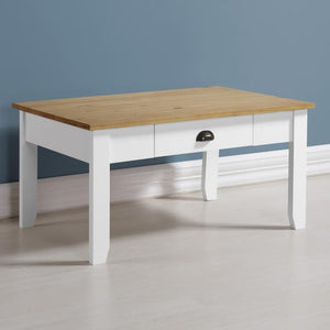 Ludlow Coffee Table in White and Solid Pine-Ludlow Coffee Table in White & Sold Pine-seconique-GoFurn Furniture Store Kent
