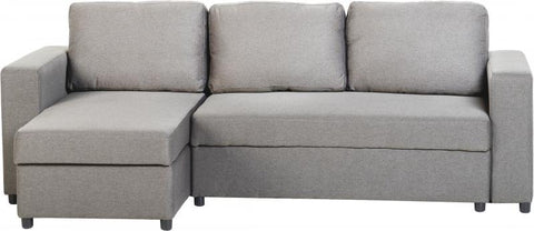 DORA LIGHT GREY SOFABED WITH L SHAPE BY SECONIQUE