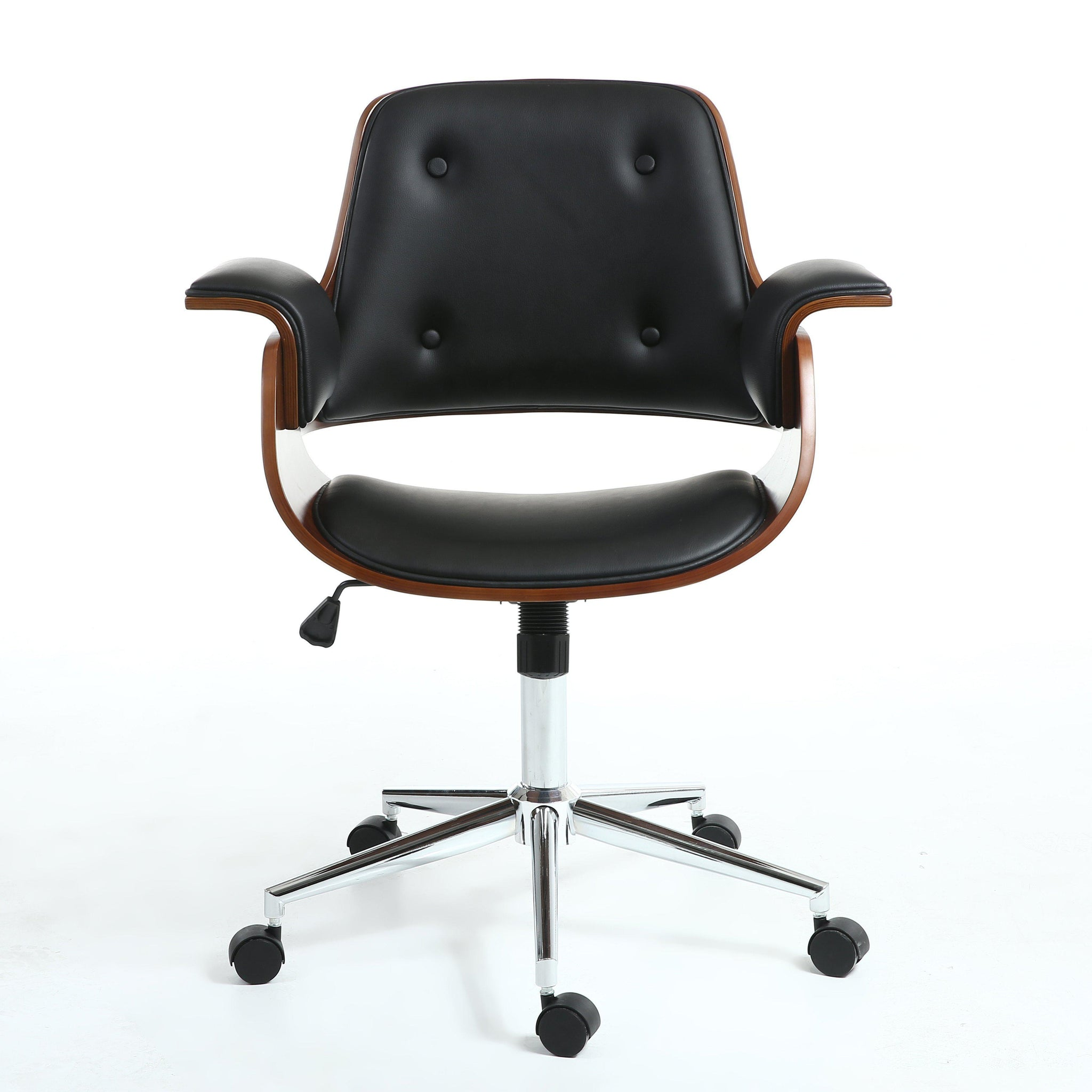 Kato Black and Walnut Office Chair-office chair contemporary design-shankar-GoFurn Furniture Store Kent