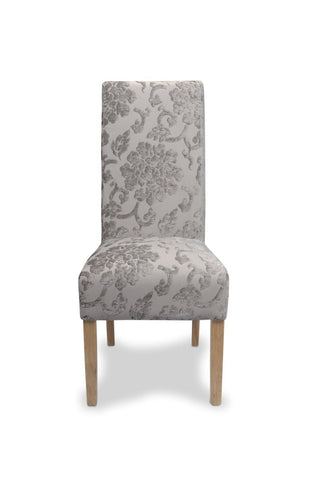 Krista Baroque Mink Fabric Dining Chair-fabric dining chairs-shankar-GoFurn Furniture Store Kent