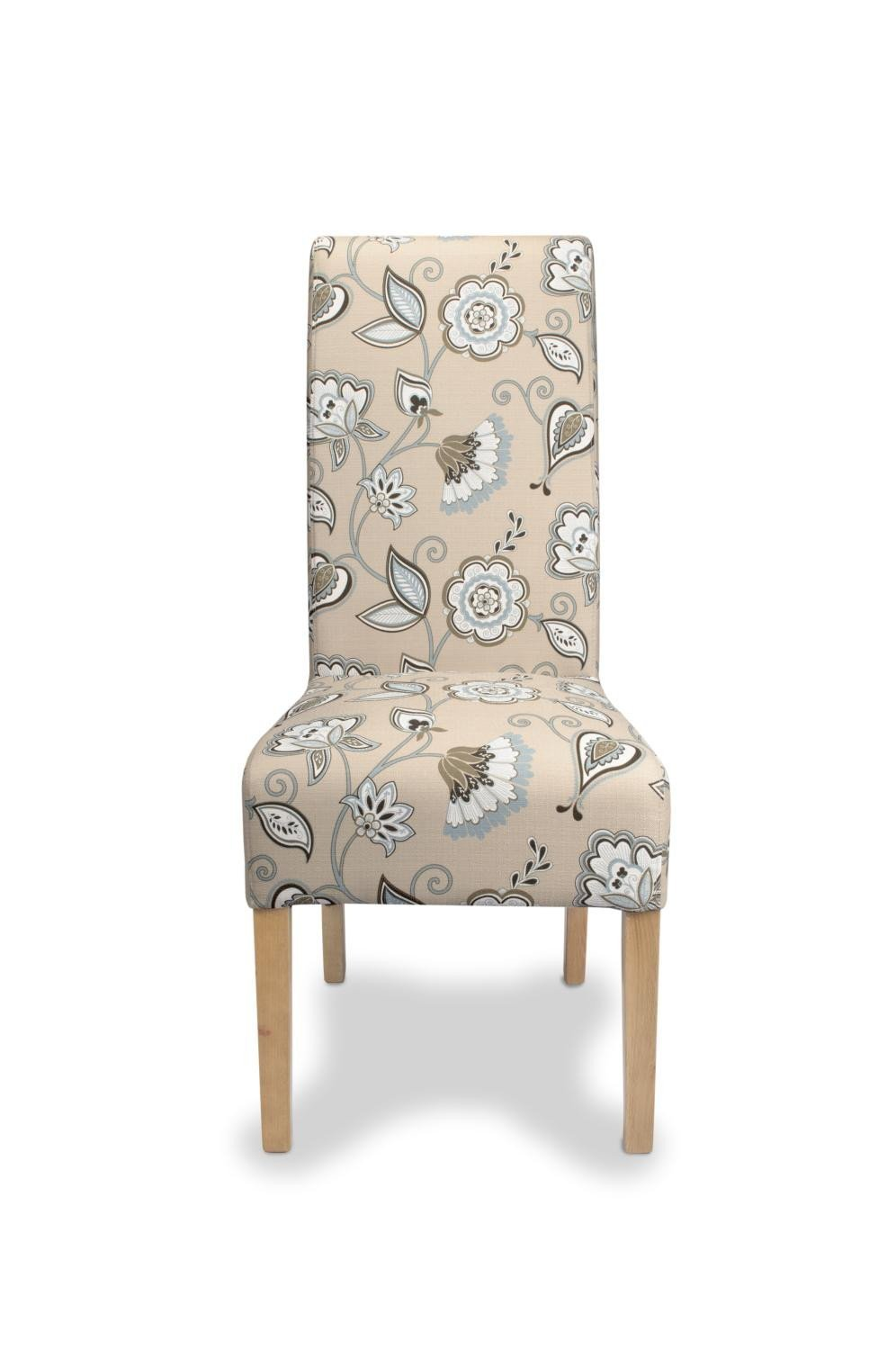 Krista Deco Duck Egg Blue Dining Chair-fabric dining chairs-shankar-GoFurn Furniture Store Kent
