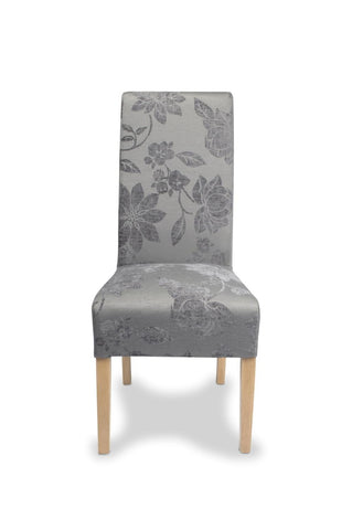 Krista Fleur Antique Grey Fabric Dining Chair-fabric dining chairs-shankar-GoFurn Furniture Store Kent