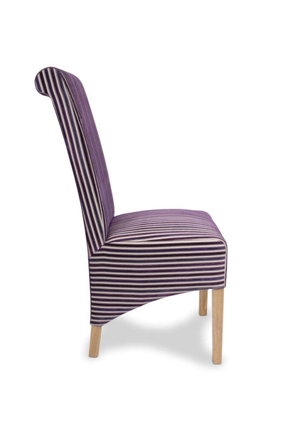 Krista Jupiter Aubergine Fabric Dining Chair-fabric dining chairs-shankar-GoFurn Furniture Store Kent