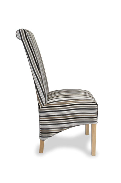 Krista Jupiter Silver Fabric Dining Chair-fabric dining chairs-shankar-GoFurn Furniture Store Kent