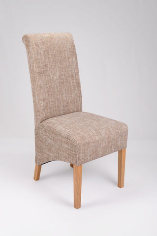 Krista Tweed Fabric Dining Chair-fabric dining chairs-shankar-GoFurn Furniture Store Kent