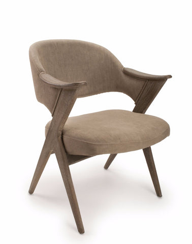 Louis Grande V Style Oak Accent Chair-Accent Arm Chairs-shankar-GoFurn Furniture Store Kent