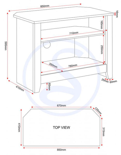 ludlow tv unit measurements guide