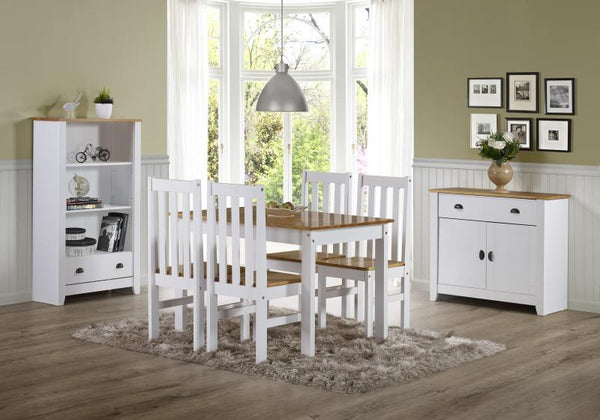 ludlow white and pine complete room set