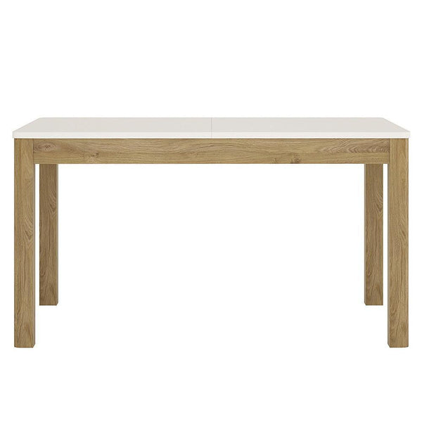 Lulu Extending Dining Table White & Oak-white and oak extending dining table-furniture to go-GoFurn Furniture Store Kent