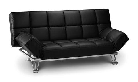 Manhattan II Upgraded Sofa Bed in Faux Leather Black or Brown-Sofas-Julian Bowen-GoFurn Furniture Store Kent