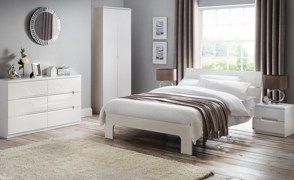 official photos e956f 23123 Manhattan White High Gloss 3 Drawer Chest of Drawers