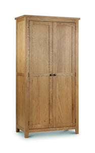 Marlborough Oak 2 Door Wardrobe-Oak Wardrobes-Julian Bowen-GoFurn Furniture Store Kent