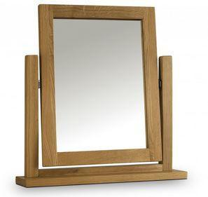 Marlborough Oak Dressing Table Mirror-Oak dressing table Mirrors-Julian Bowen-GoFurn Furniture Store Kent