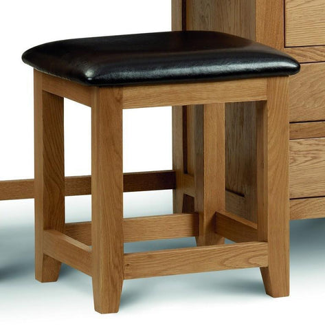 Marlborough Warm Oak Furniture Dressing Table Stool-Dressing Table Stools-Julian Bowen-GoFurn Furniture Store Kent