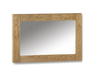 Marlborough Warm Oak Furniture Wall Mirror-Oak Mirrors-Julian Bowen-GoFurn Furniture Store Kent