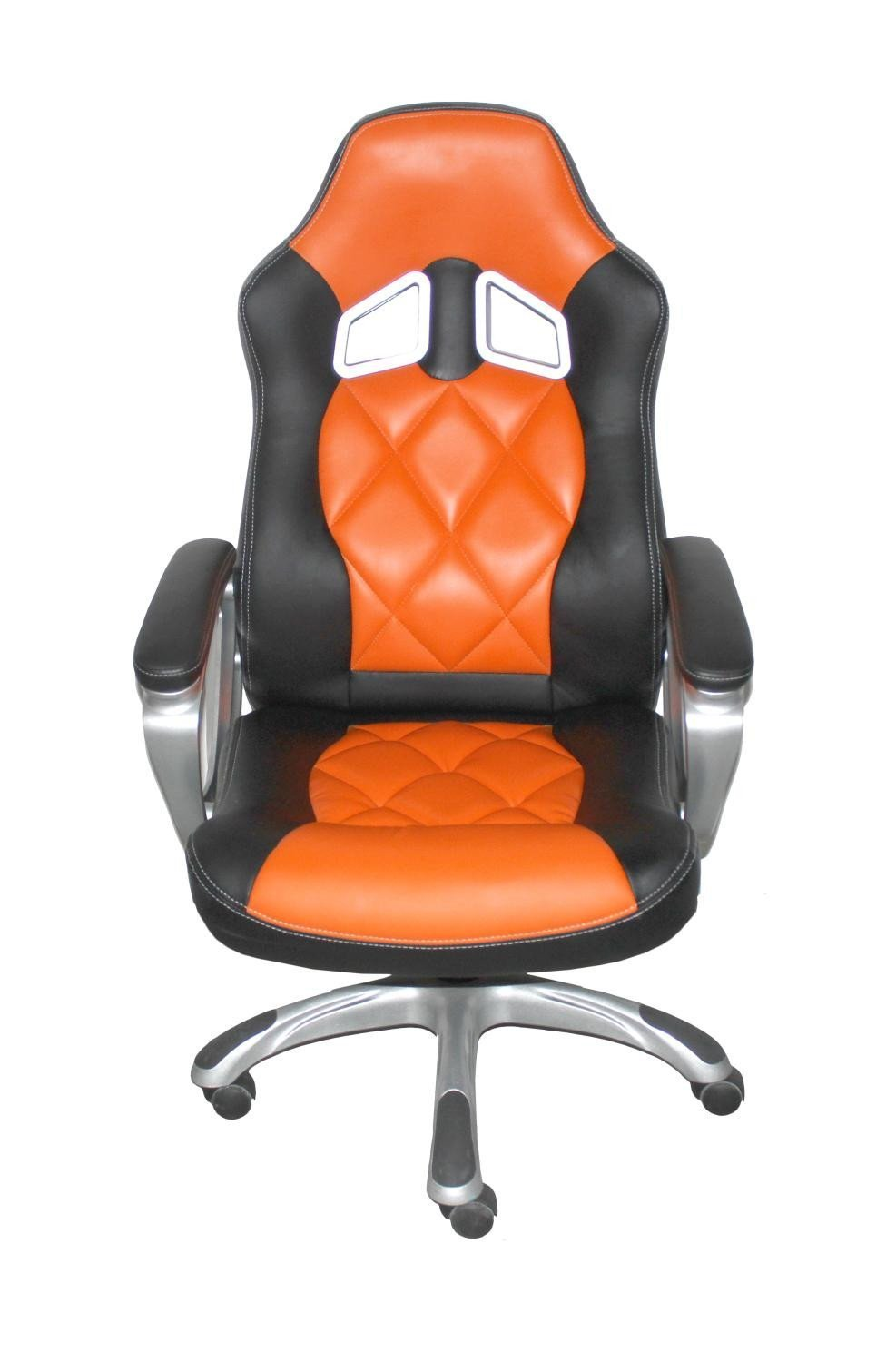 Memphis High Back Executive Black Orange Office Chair-Office Chair-shankar-GoFurn Furniture Store Kent