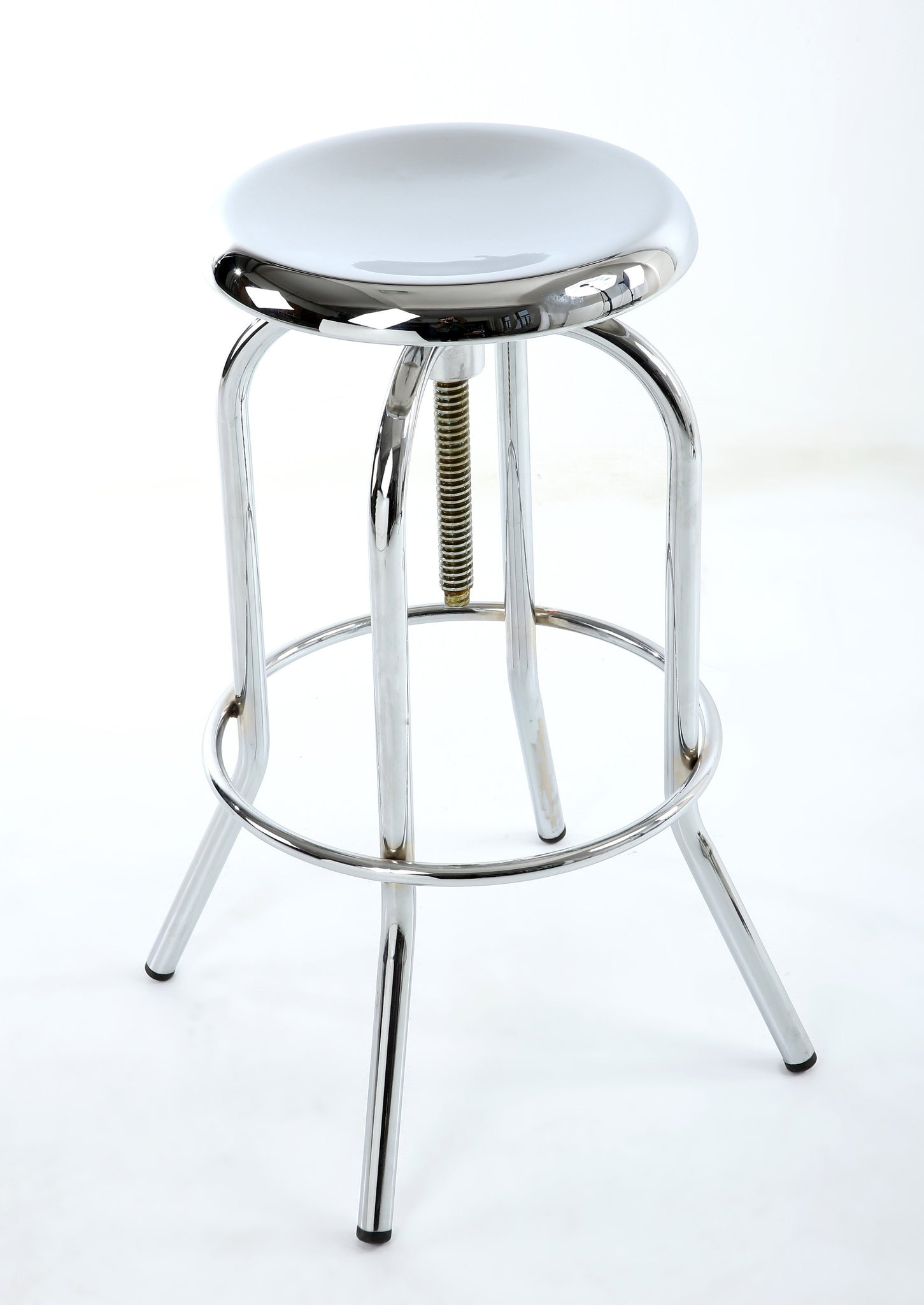 Mercury Polished Chrome Bar Stool-Bar Stool contemporary polished finish-shankar-GoFurn Furniture Store Kent