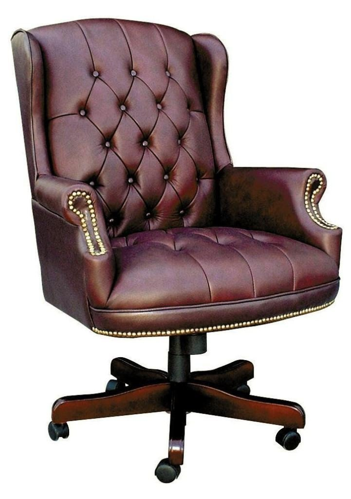 Merton Italian Leather Executive Office Chair-leather traditional office chair-teknik-GoFurn Furniture Store Kent