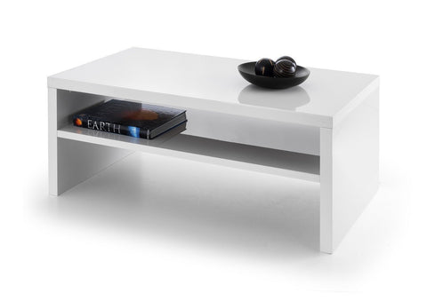 Metro High Gloss Coffee Table in White or Black-Coffee Table-Seconique-White-GoFurn Furniture Store Kent