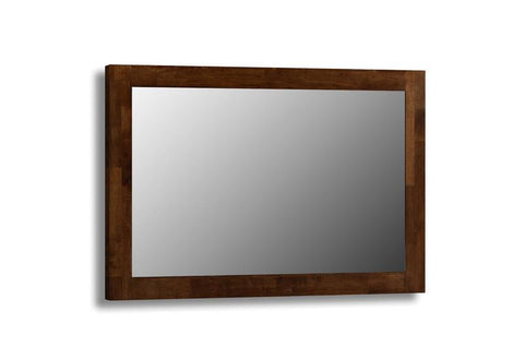 Minuet Solid Wenge Furniture Wall Mirror-dark wood framed wall Mirrors-Julian Bowen-GoFurn Furniture Store Kent