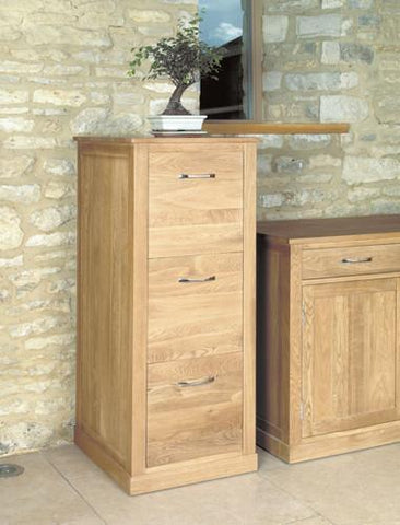 Mobel Light Oak Three Drawer Filing Cabinet-oak filing cabinets-Baumhaus-GoFurn Furniture Store Kent