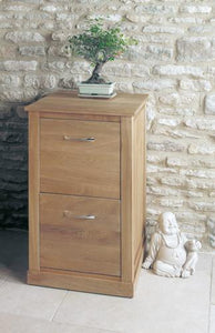 Mobel Light Oak Two Drawer Filing Cabinet-oak filing cabinets-Baumhaus-GoFurn Furniture Store Kent