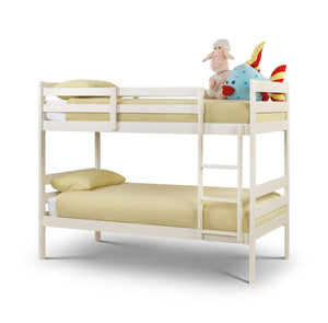 Modena White Stone Bunk Bed-white Bunk Bed-Julian Bowen-GoFurn Furniture Store Kent
