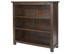 Nepal Low Dark Wood Bookcase-dark Bookcases-core products-GoFurn Furniture Store Kent