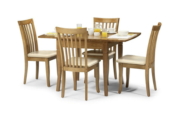 Newbury Maple Finish Dining Set with 4 Chairs-Dining Sets-Julian Bowen-GoFurn Furniture Store Kent