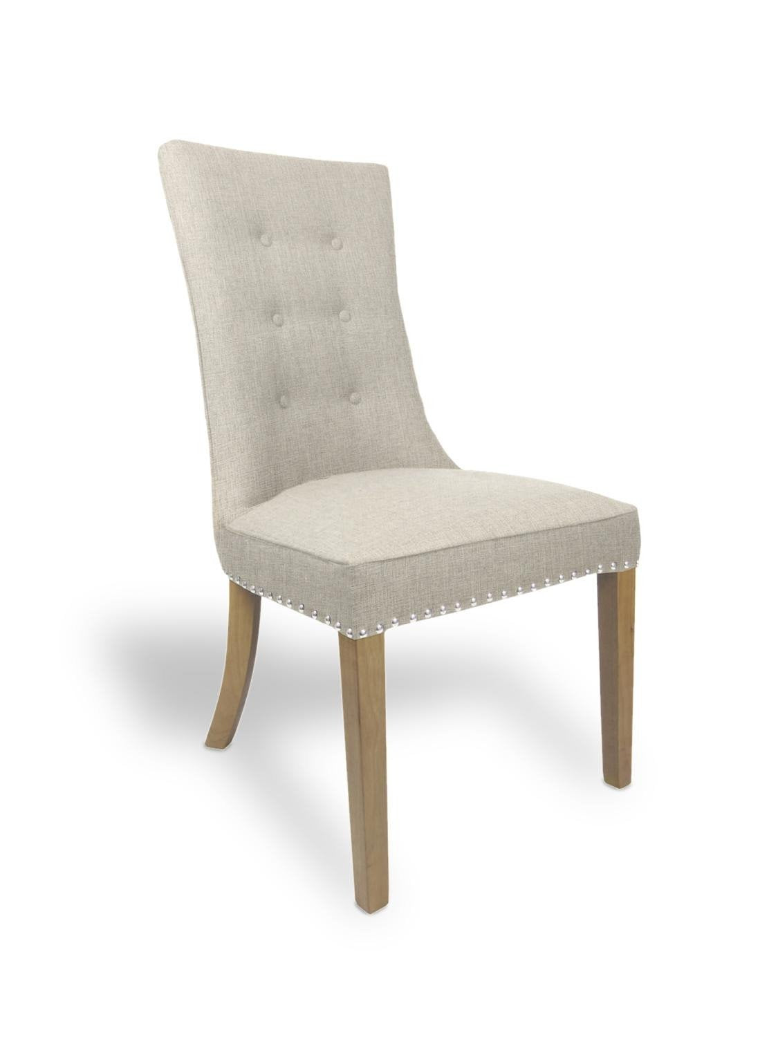 Newbury Natural Fabric Dining Chair-fabric dining chairs-shankar-GoFurn Furniture Store Kent