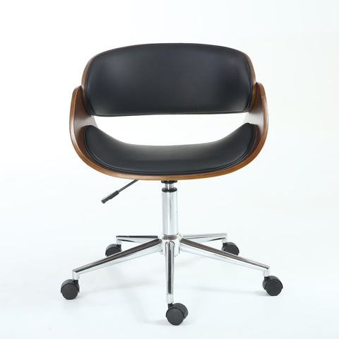 Okka Black and Walnut Contemporary Office Chair-office chair contemporary design-shankar-GoFurn Furniture Store Kent