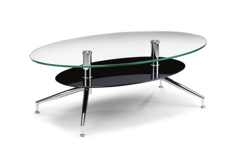 Oklahoma Coffee Table Chrome and Glass-Coffee Table-Julian Bowen-GoFurn Furniture Store Kent
