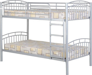 Oslo Bunk Bed in Silver Finish-Metal Bunk Beds-Seconique-GoFurn Furniture Store Kent