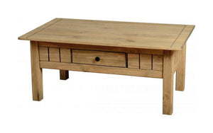 Panama Distressed Pine Coffee Table-pine Coffee Table-Seconique-GoFurn Furniture Store Kent