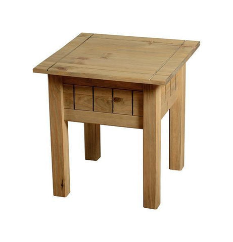 Panama Distressed Pine Lamp Table-pine lamp Tables-Seconique-GoFurn Furniture Store Kent