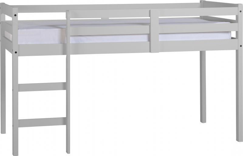 Panama Mid Sleeper Childrens Bed Grey-Childrens Beds-Seconique-GoFurn Furniture Store Kent