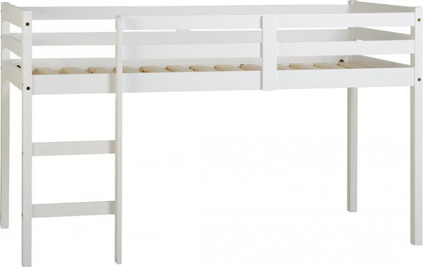 Panama Mid Sleeper Childrens Bed in White-Childrens Beds-Seconique-GoFurn Furniture Store Kent