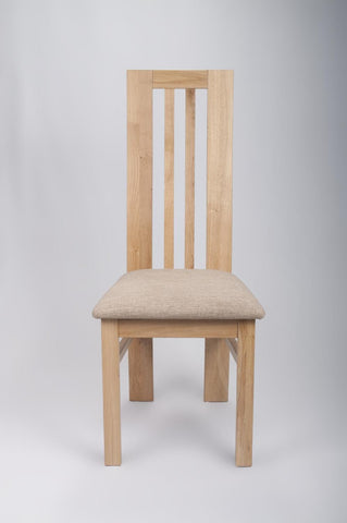 Phoenix Curved Light Solid Oak Dining Chair-Solid Light Oak Dining Chairs-shankar-GoFurn Furniture Store Kent