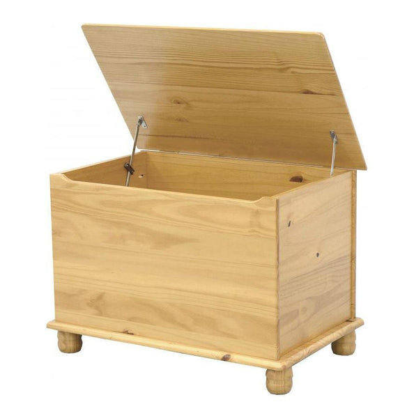 Sol Solid Pine Blanket Box Storage Chest-Pine Blanket Box-Seconique-GoFurn Furniture Store Kent