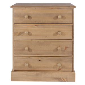Cotswold Pine 4 Drawer Chest of Drawers-Pine Chest Of Drawers-core products-GoFurn Furniture Store Kent