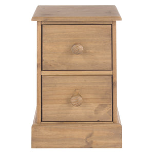 Cotswold Pine Petite Narrow Bedside Cabinet-Pine small Bedside Cabinets-core products-GoFurn Furniture Store Kent