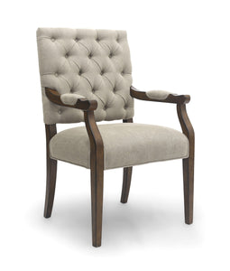 Portland Natural Dining Chair Carver-fabric dining or accent chair-shankar-GoFurn Furniture Store Kent