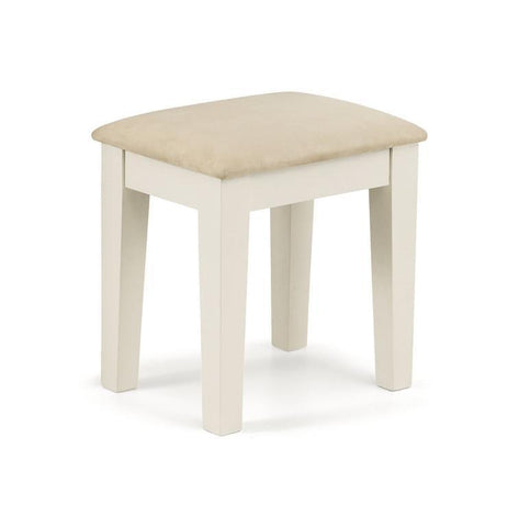Portland Stone White and Oak Upholstered Stool-Bedroom Stool-Julian Bowen-GoFurn Furniture Store Kent