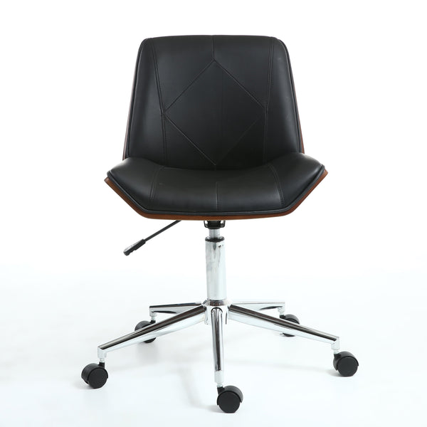 Reed Black and Walnut Contemporary Office Chair-office chair contemporary design-shankar-GoFurn Furniture Store Kent