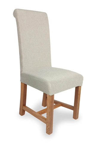 Richmond Herringbone Cappuccino Fabric Dining Chair-fabric dining chairs-shankar-GoFurn Furniture Store Kent