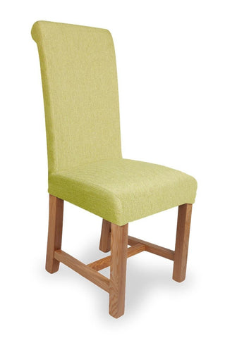 Richmond Herringbone Lime Fabric Dining Chair-fabric dining chairs-shankar-GoFurn Furniture Store Kent