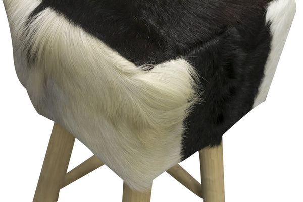 Safari Tall Natural Hide Stool Square-kitchen breakfast wooden bar stools-bluebone-GoFurn Furniture Store Kent